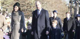 Герцоги Кембриджиские с сыном Джорджем и дочерью Шарлоттой