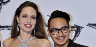 Анджелина Джоли с приемным сыном Мэддоксом